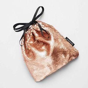 5 for $25 Sephora Rose Gold Sequin Drawstring Bag